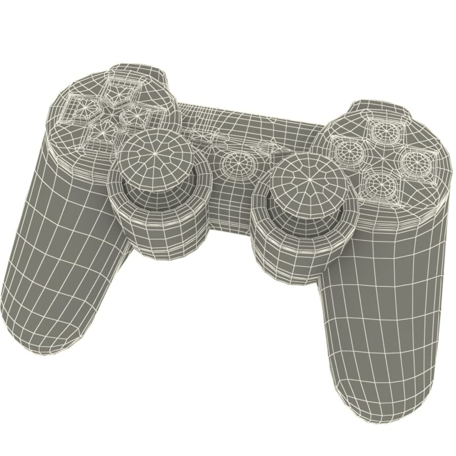 Sony PlayStation 3 Controller royalty-free 3d model - Preview no. 12