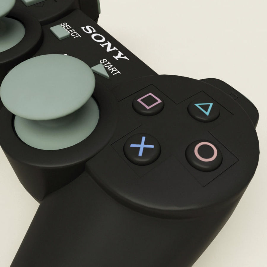 Sony PlayStation 3 Controller royalty-free 3d model - Preview no. 6