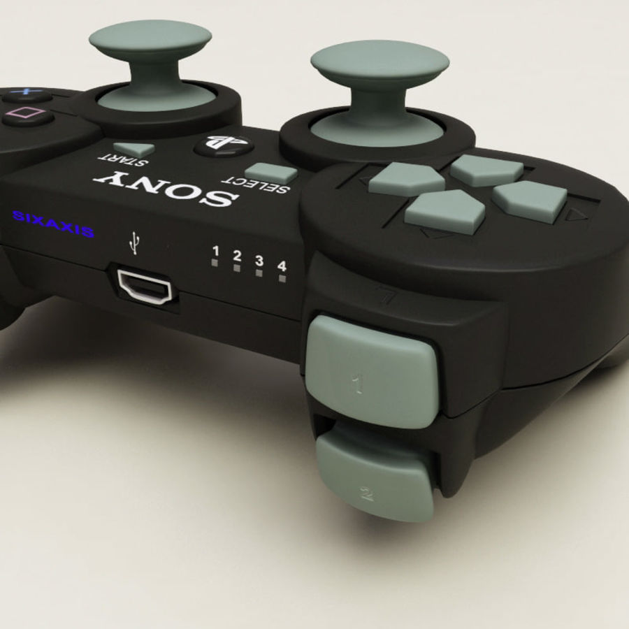 Sony PlayStation 3 Controller royalty-free 3d model - Preview no. 8