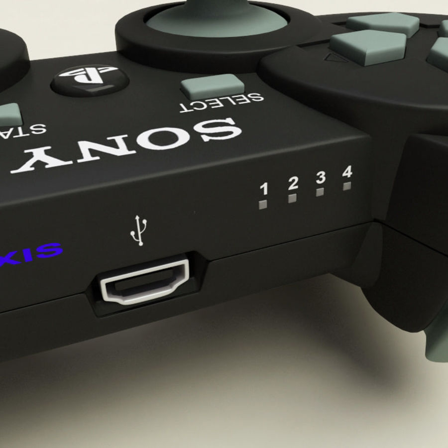 Sony PlayStation 3 Controller royalty-free 3d model - Preview no. 10