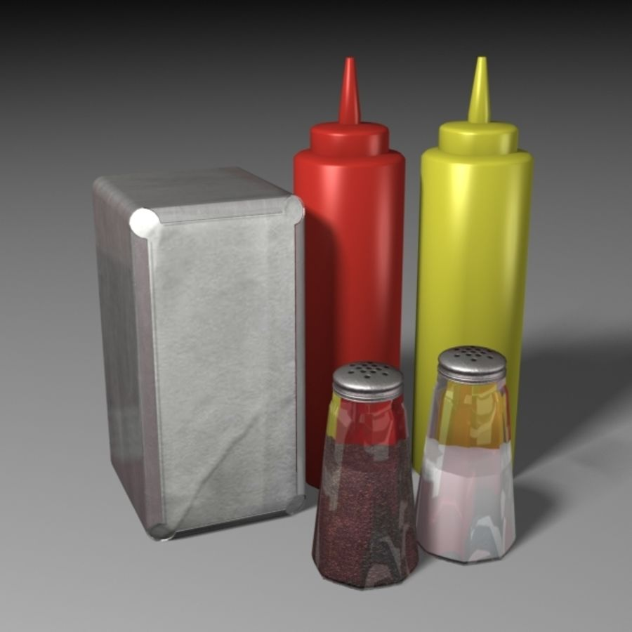Table Accessories royalty-free 3d model - Preview no. 3