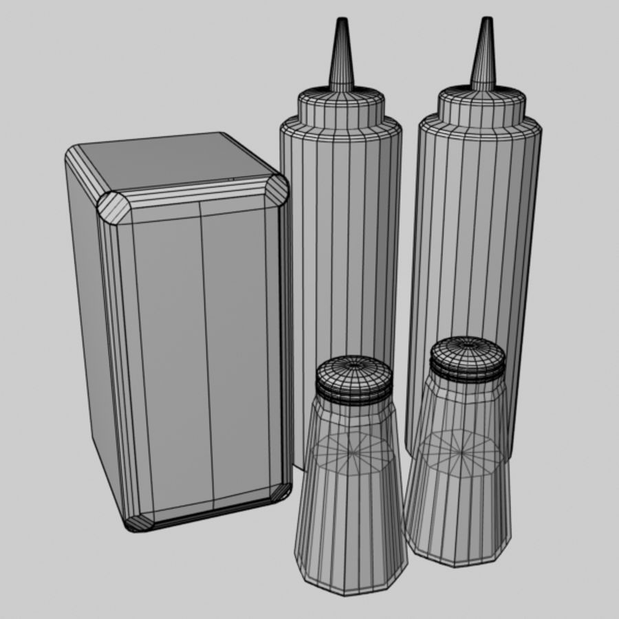 Table Accessories royalty-free 3d model - Preview no. 8