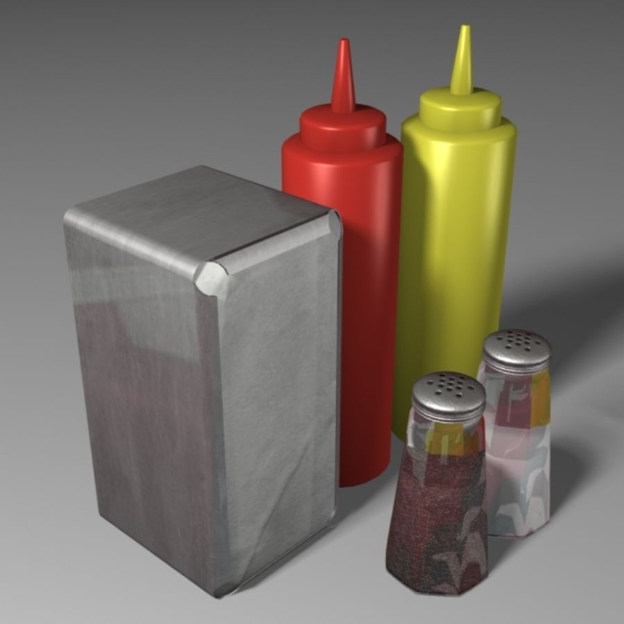 Table Accessories royalty-free 3d model - Preview no. 4