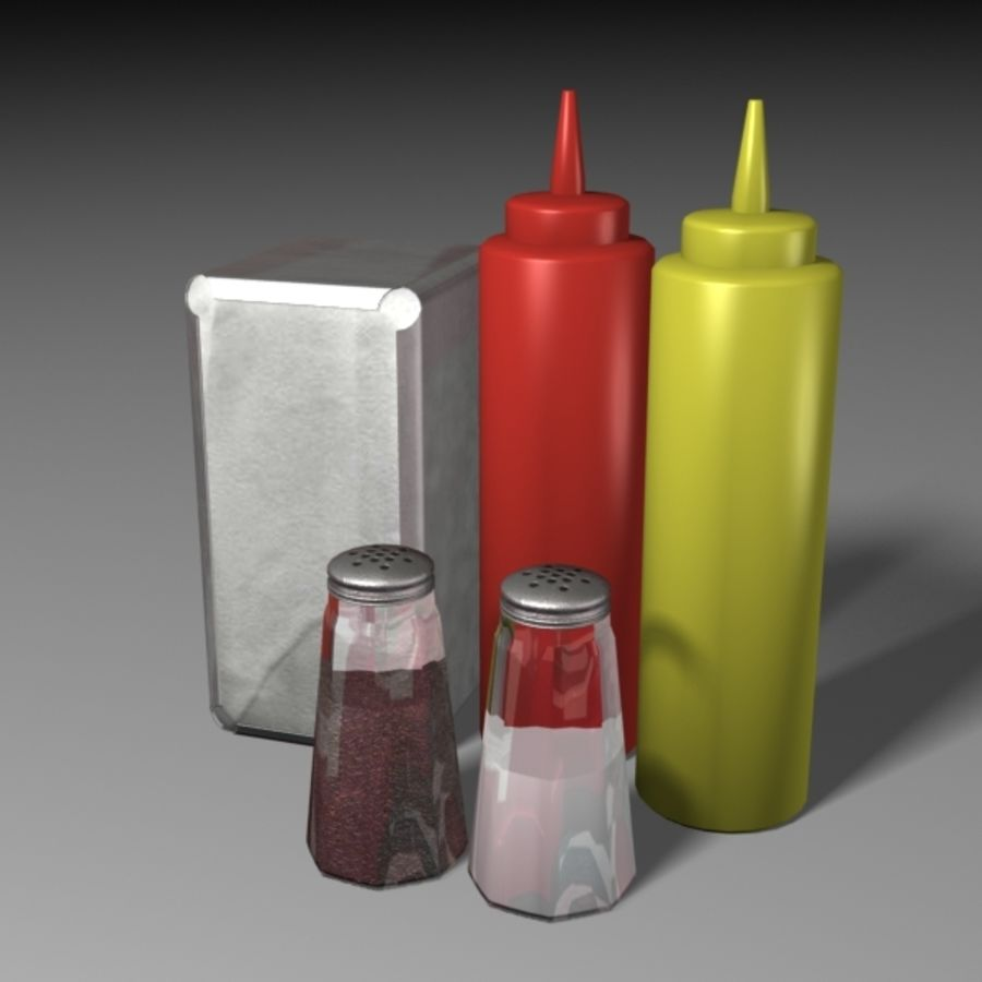 Table Accessories royalty-free 3d model - Preview no. 2