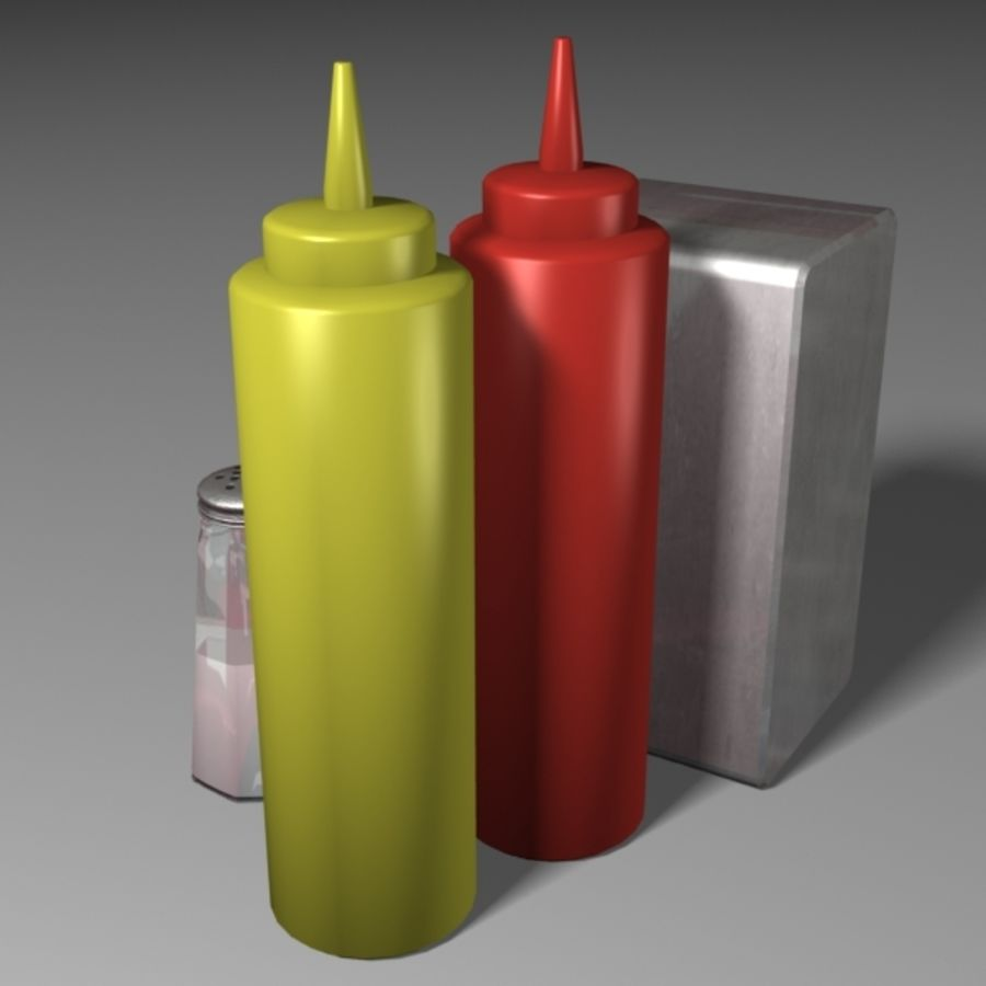Table Accessories royalty-free 3d model - Preview no. 5