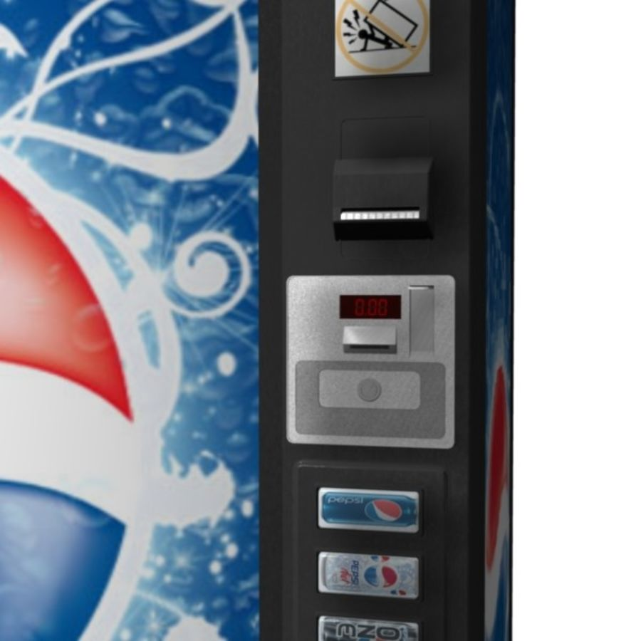Vending Machine royalty-free 3d model - Preview no. 9