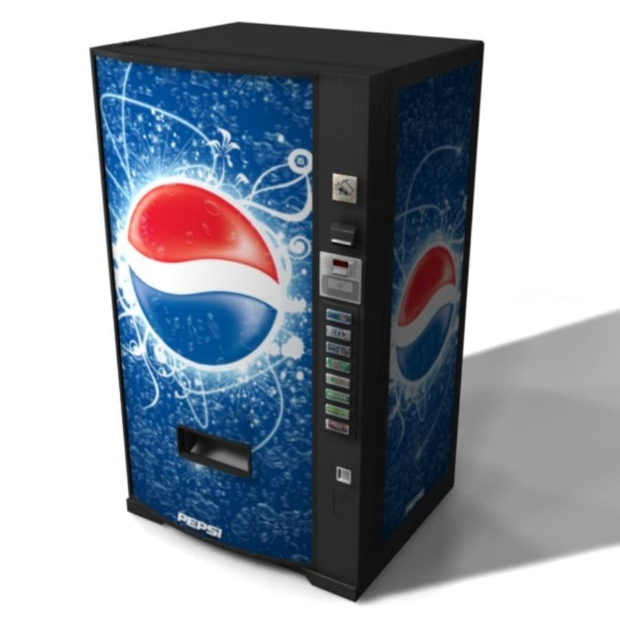 Vending Machine royalty-free 3d model - Preview no. 2