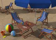 Stranduppsättning 3d model