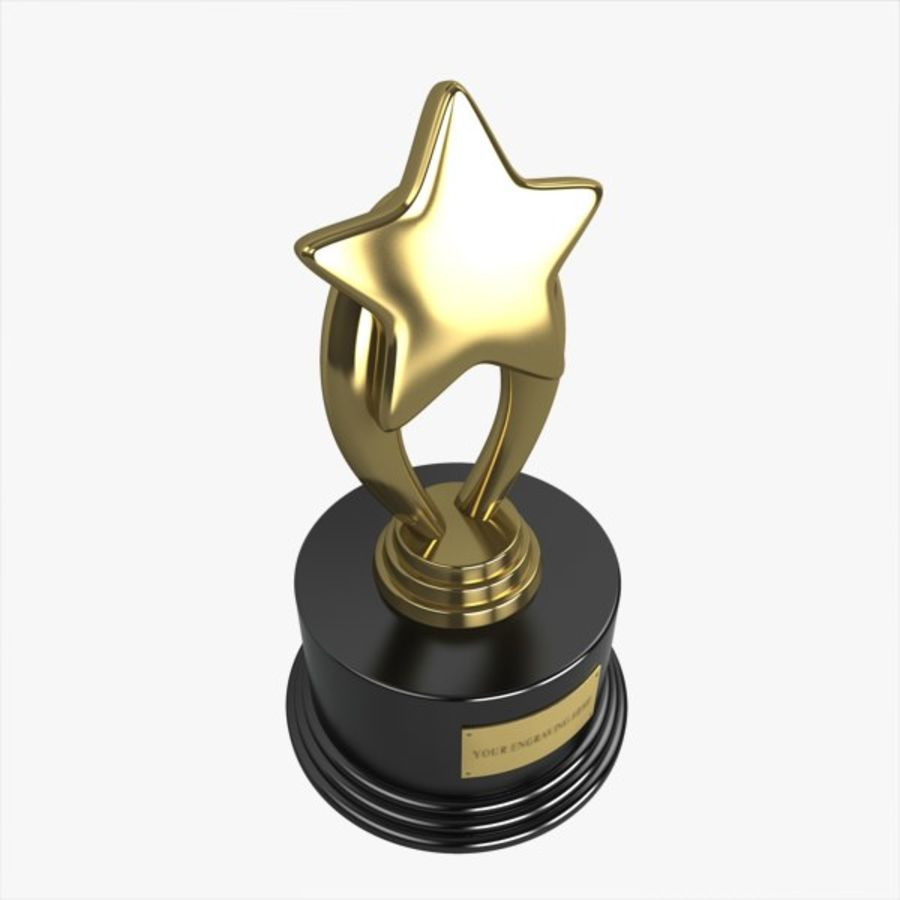 Star Trophy royalty-free 3d model - Preview no. 3