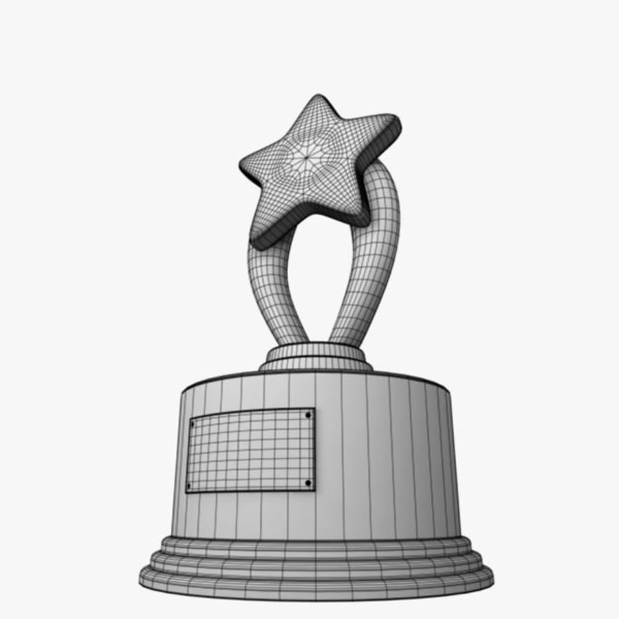 Star Trophy royalty-free 3d model - Preview no. 9