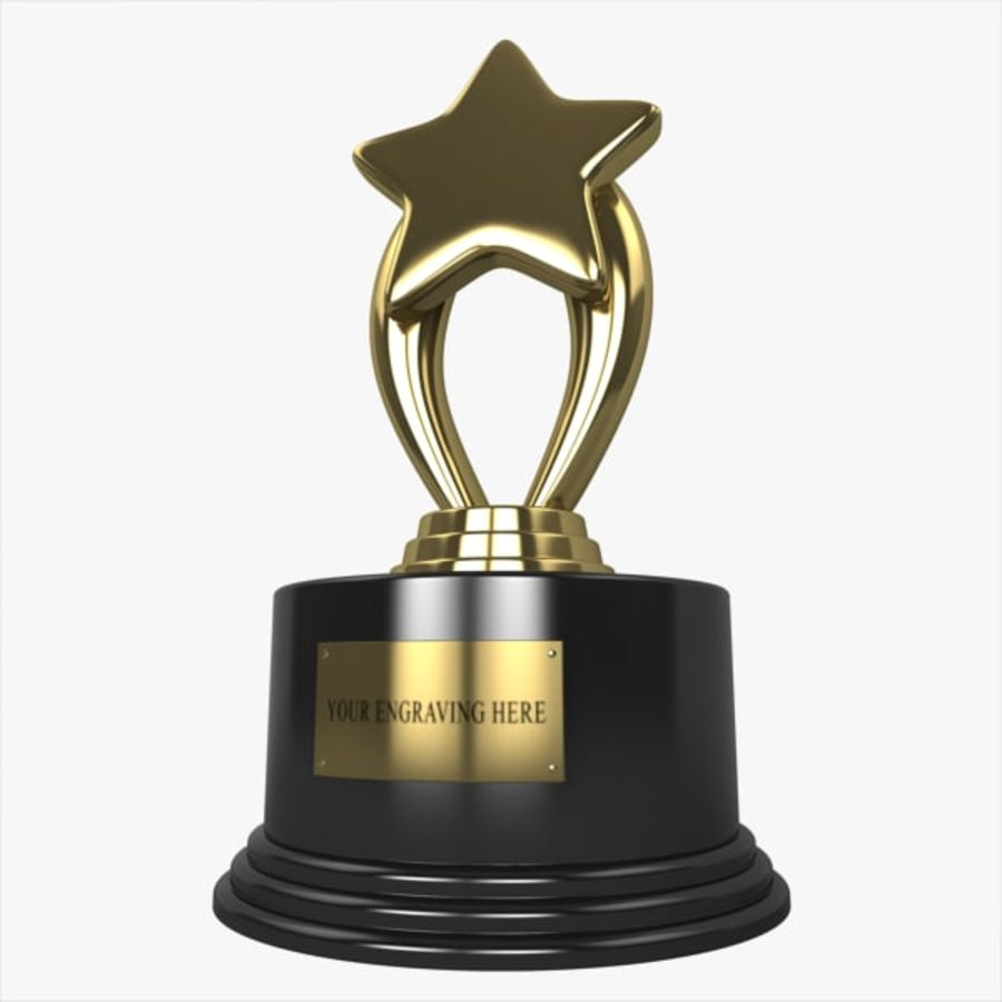 Star Trophy royalty-free 3d model - Preview no. 1