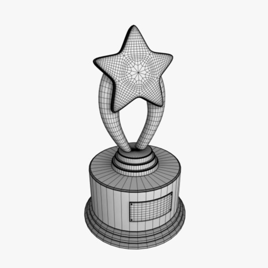 Star Trophy royalty-free 3d model - Preview no. 10