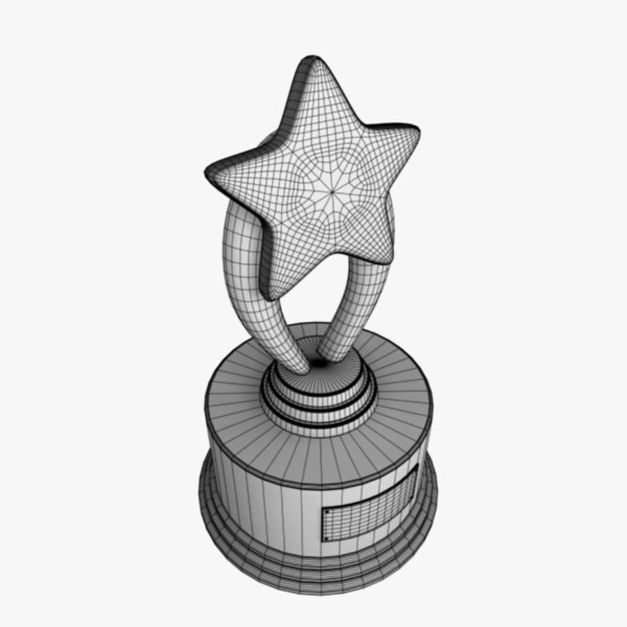Star Trophy royalty-free 3d model - Preview no. 7