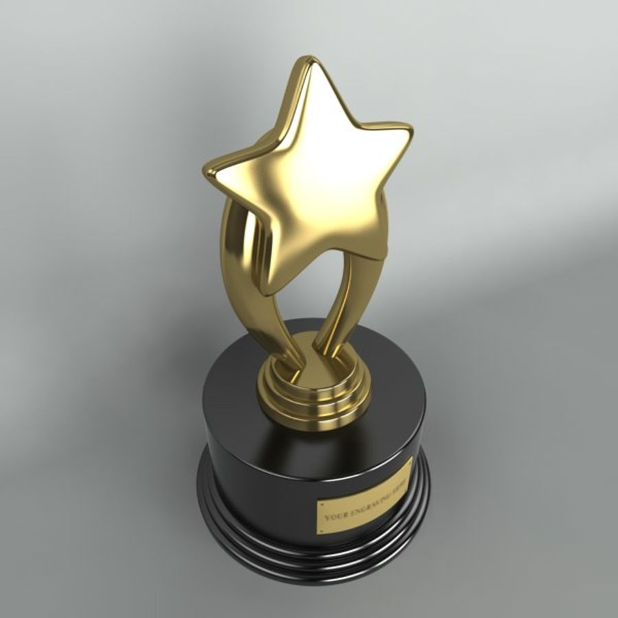 Star Trophy royalty-free 3d model - Preview no. 4