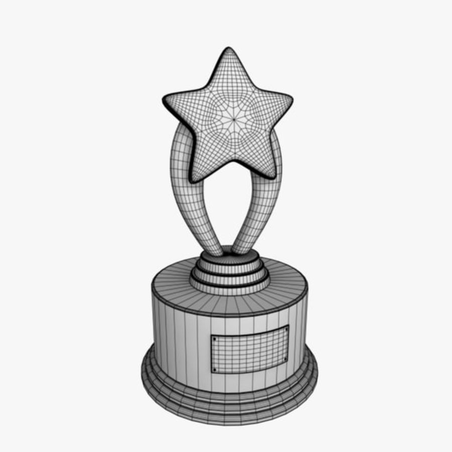 Star Trophy royalty-free 3d model - Preview no. 8