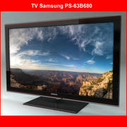 TV Samsung PS-63B680 3d model