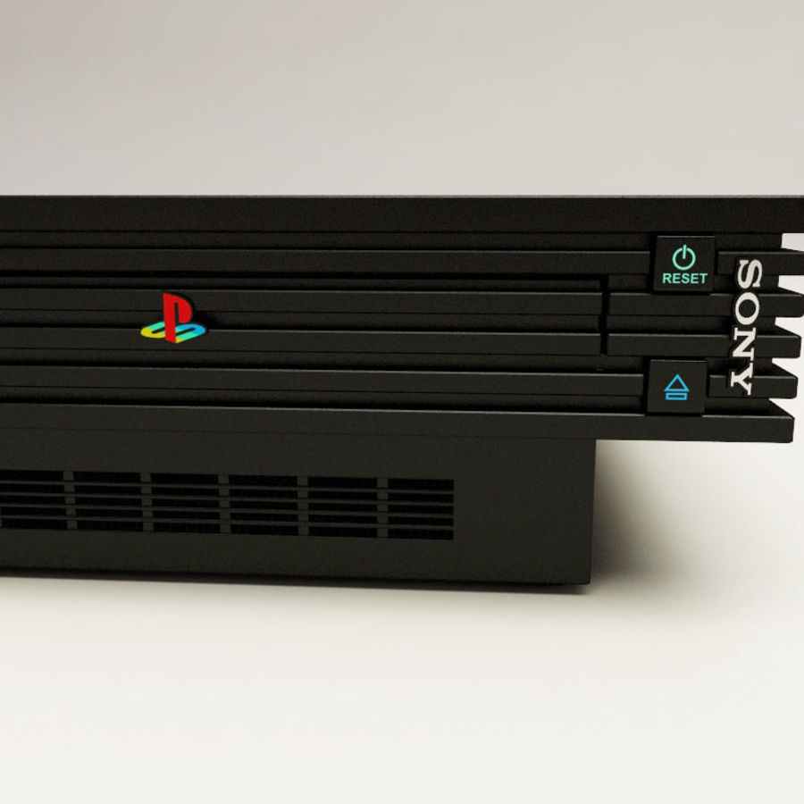 Sony PlayStation 2 Console royalty-free 3d model - Preview no. 6