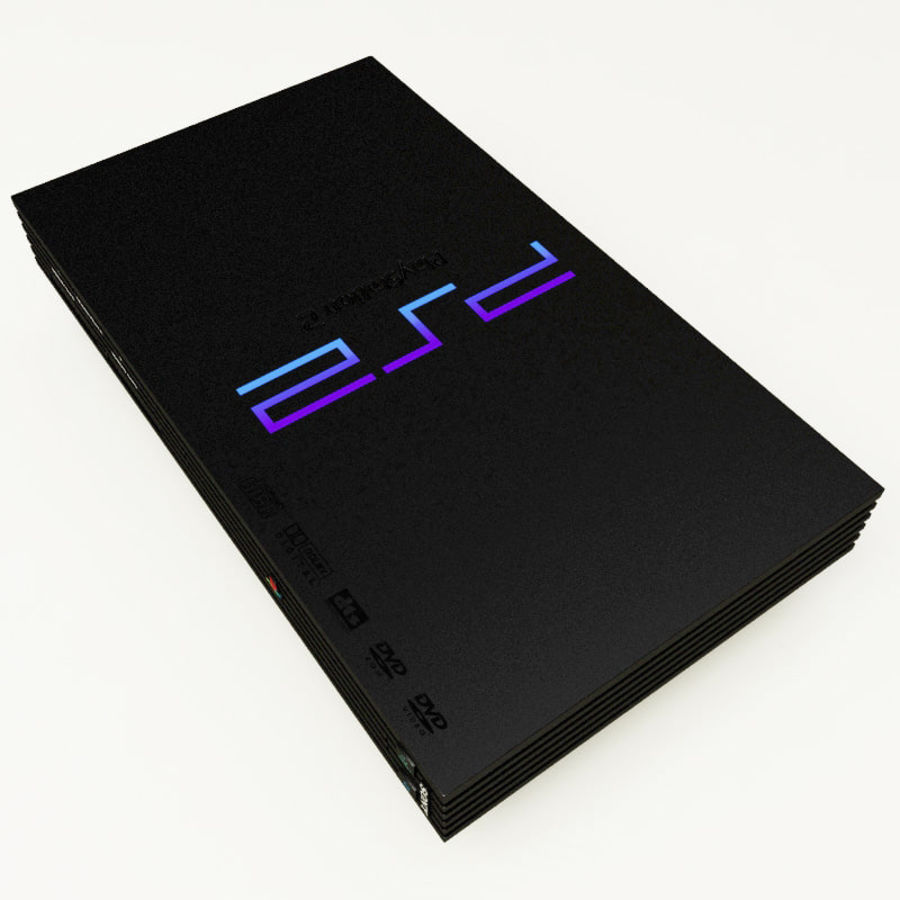 Sony PlayStation 2 Console royalty-free 3d model - Preview no. 3