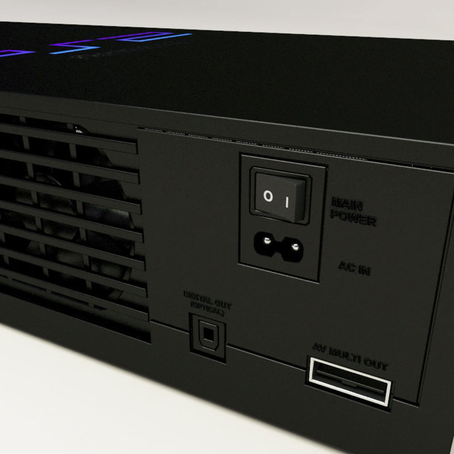 Sony PlayStation 2 Console royalty-free 3d model - Preview no. 12