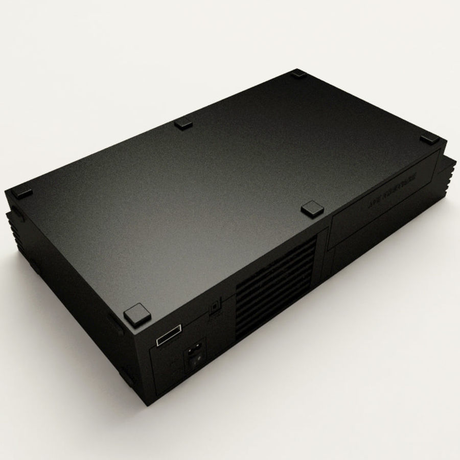 Sony PlayStation 2 Console royalty-free 3d model - Preview no. 9