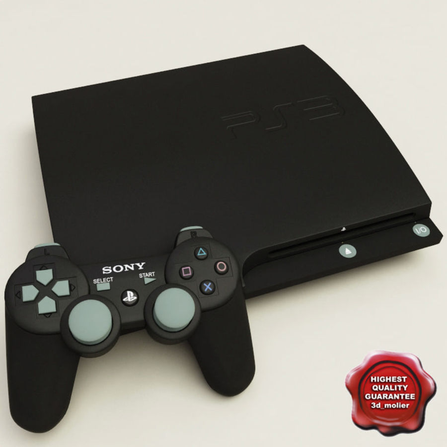 Sony PlayStation 3 royalty-free 3d model - Preview no. 1