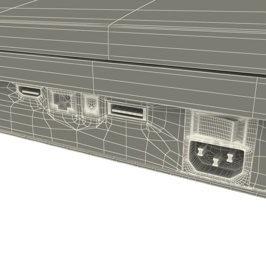 Sony PlayStation 3 royalty-free 3d model - Preview no. 24