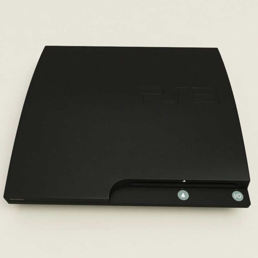 Sony PlayStation 3 royalty-free 3d model - Preview no. 4