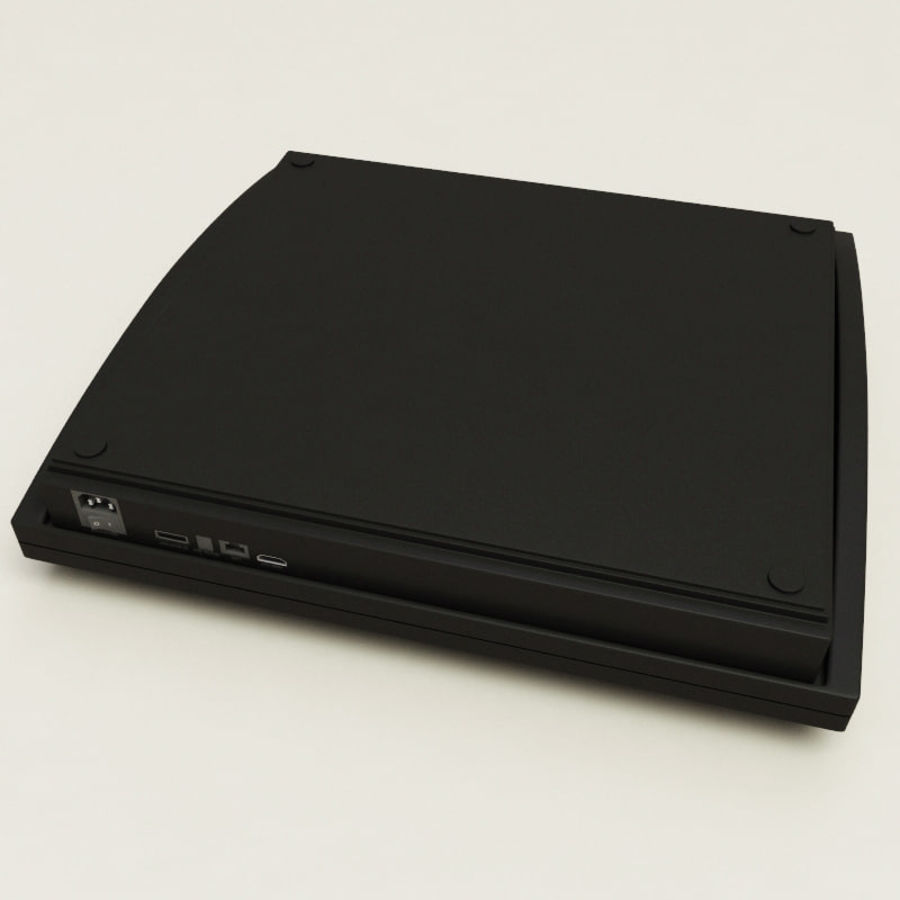 Sony PlayStation 3 royalty-free 3d model - Preview no. 10
