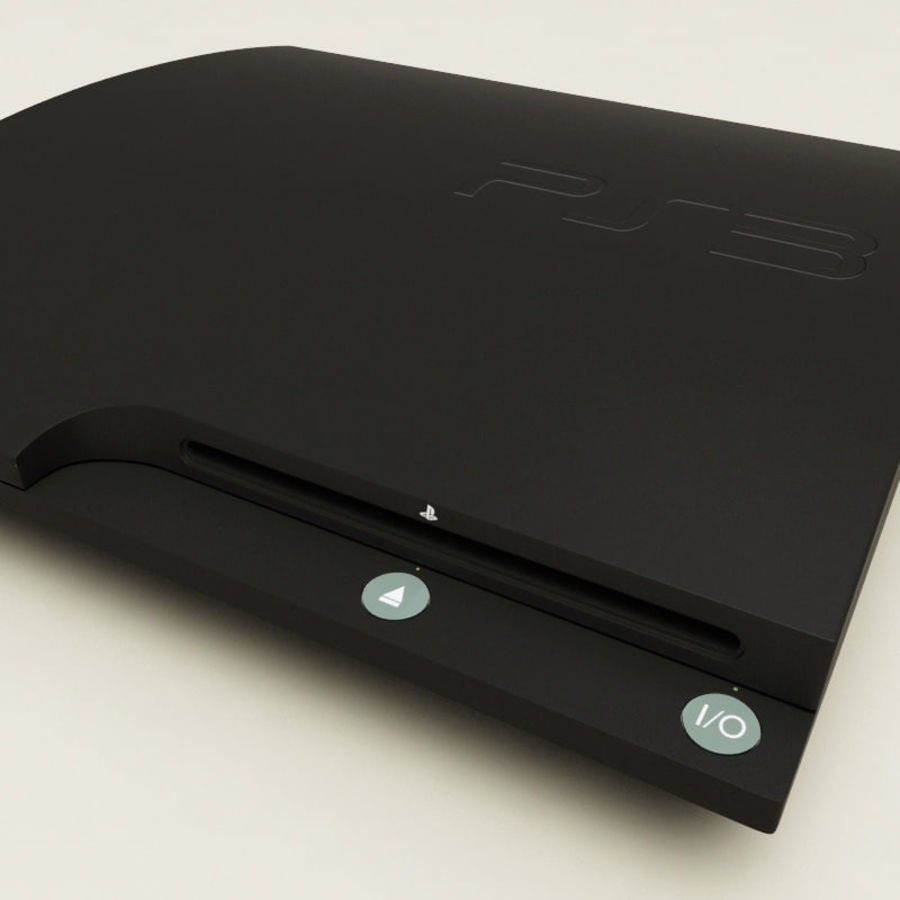 Sony PlayStation 3 royalty-free 3d model - Preview no. 5