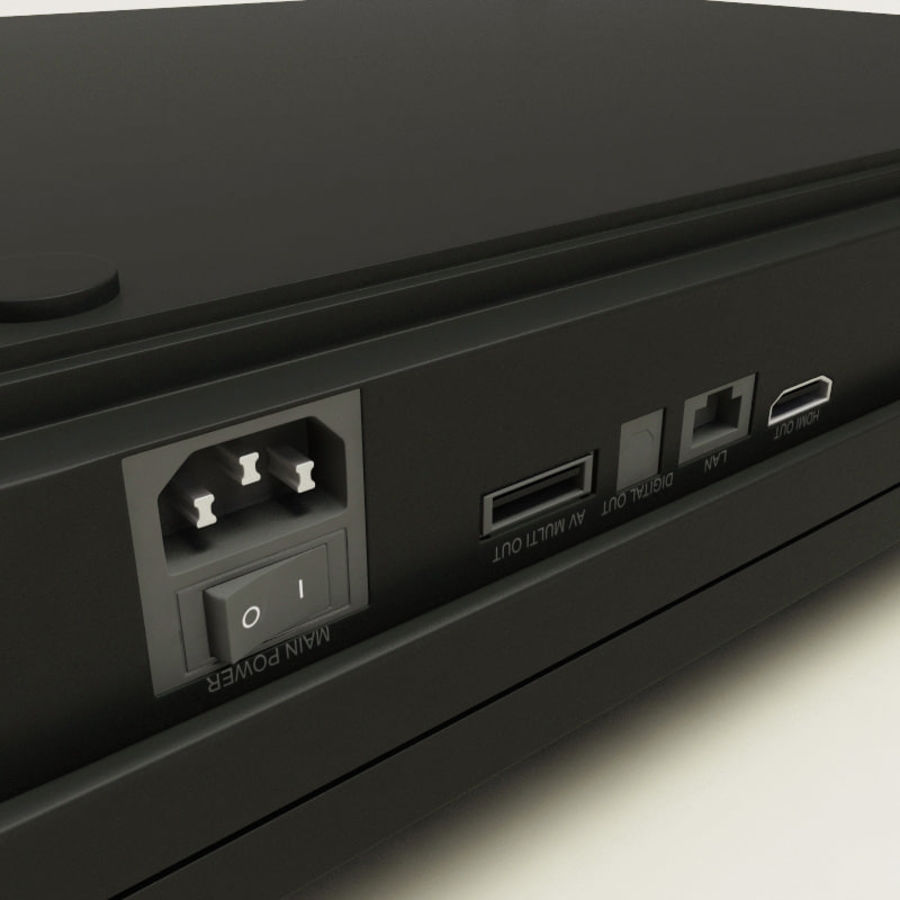 Sony PlayStation 3 royalty-free 3d model - Preview no. 11