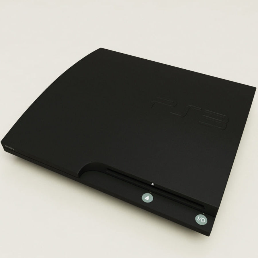 Sony PlayStation 3 royalty-free 3d model - Preview no. 3