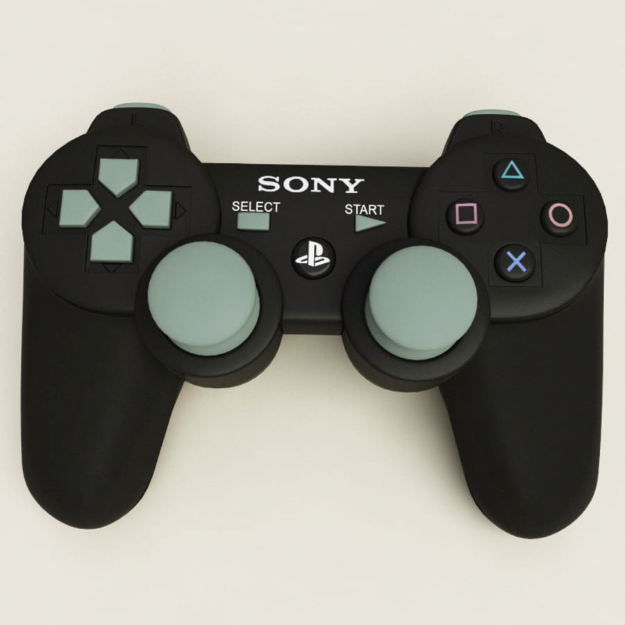 Sony PlayStation 3 royalty-free 3d model - Preview no. 13