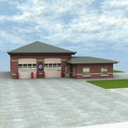 Firehouse with Skydome 3d model