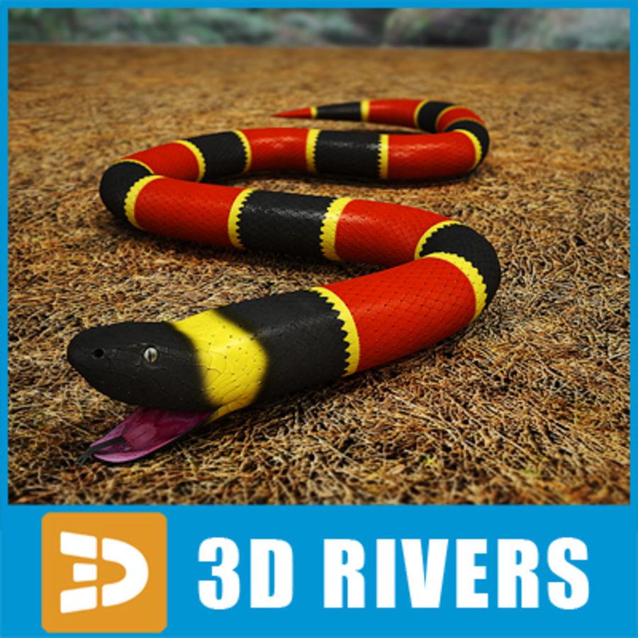 3DRivers tarafından mercan yılanı royalty-free 3d model - Preview no. 1