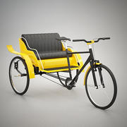 Riksza rowerowa 3d model
