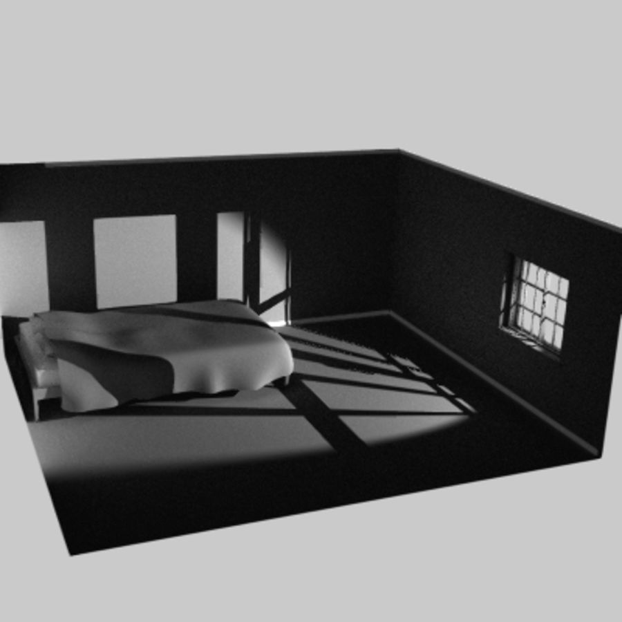 Window in room royalty-free 3d model - Preview no. 5