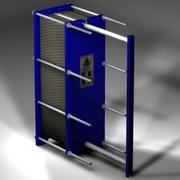 Plattvärmeväxlare 3d model