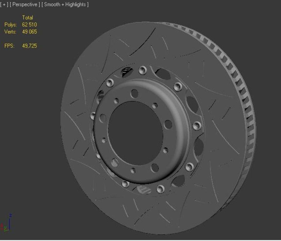 brake disc royalty-free 3d model - Preview no. 2