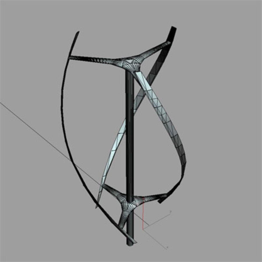 Windkraftanlage 2 3dsmax royalty-free 3d model - Preview no. 3