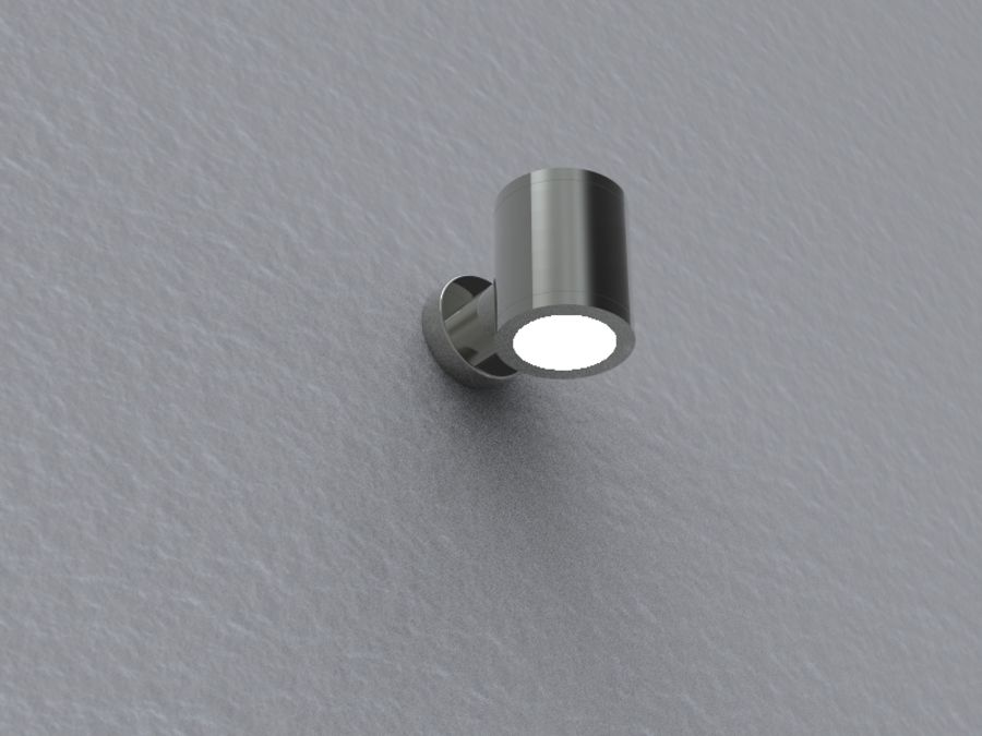 Wall lamp royalty-free 3d model - Preview no. 1