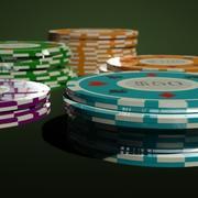 Chip del casinò 3d model