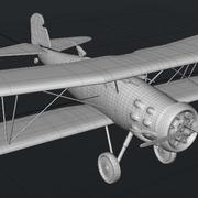 Curtis F8C-4 Biplane 3d model