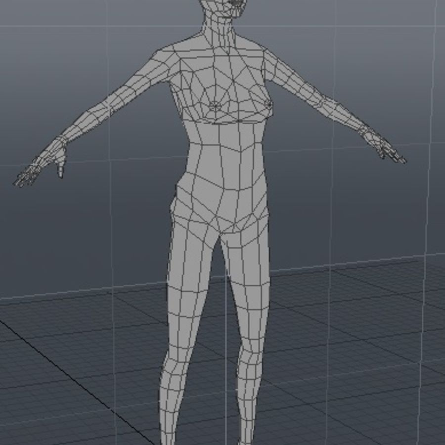 Low Polygon Human Figure Templates 3d Model 25 Obj Lxo Lwo