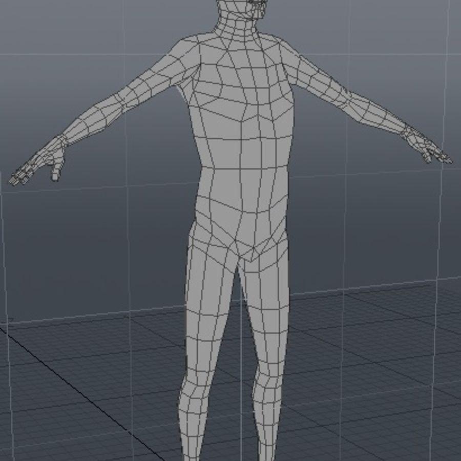 Низкополигональная человеческая фигура royalty-free 3d model - Preview no. 4