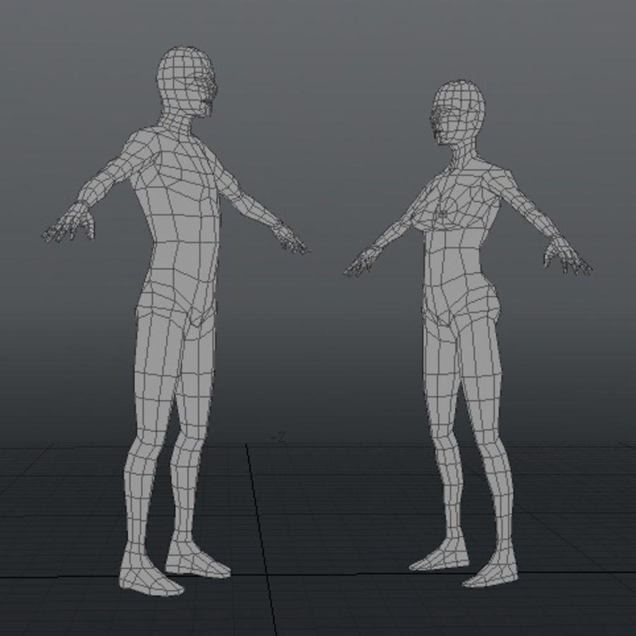 Низкополигональная человеческая фигура royalty-free 3d model - Preview no. 2