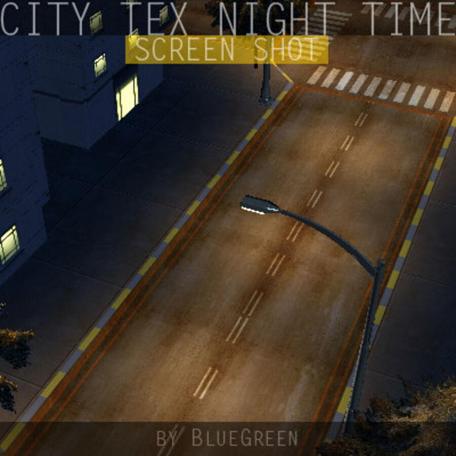 City Tex Night Time royalty-free 3d model - Preview no. 15