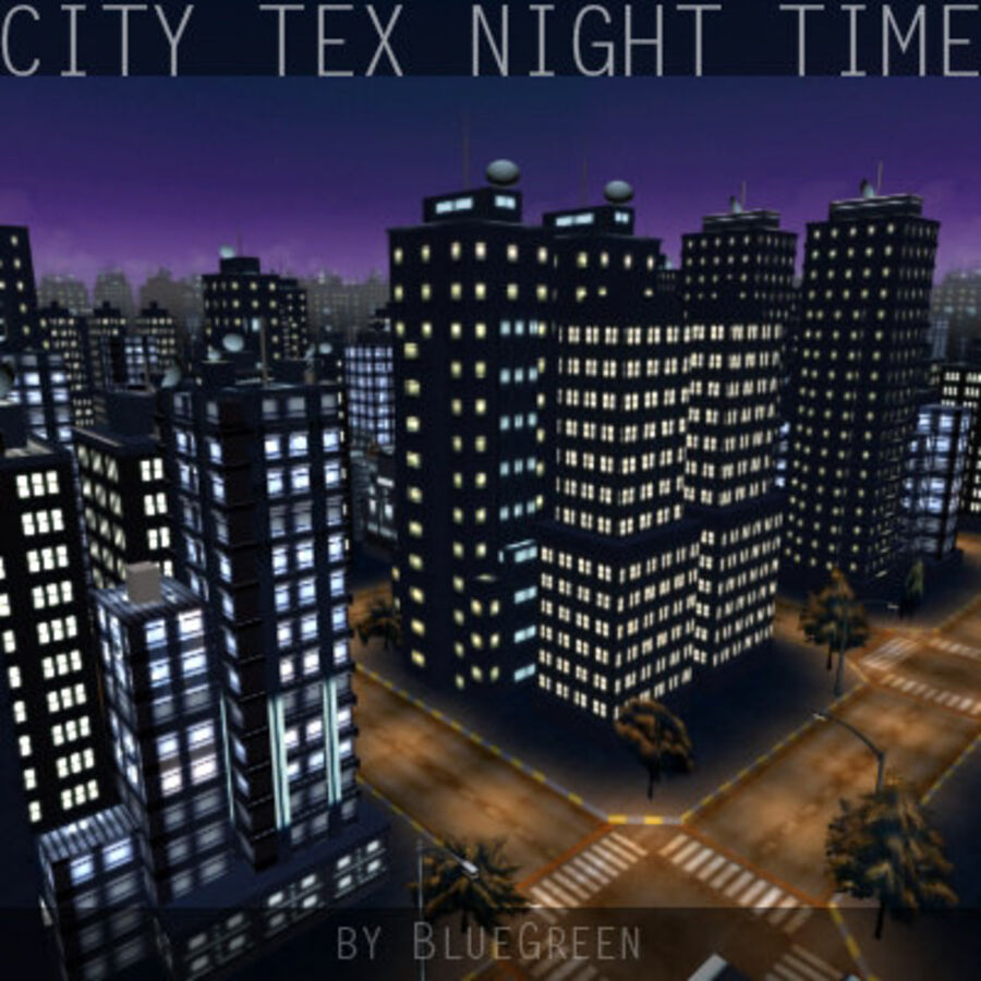 City Tex Night Time royalty-free 3d model - Preview no. 9