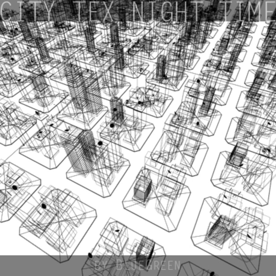 Ciudad Tex Night Time royalty-free modelo 3d - Preview no. 18