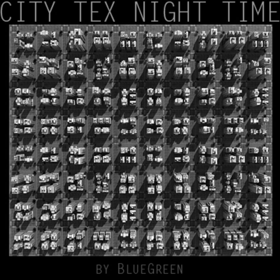 Ciudad Tex Night Time royalty-free modelo 3d - Preview no. 16