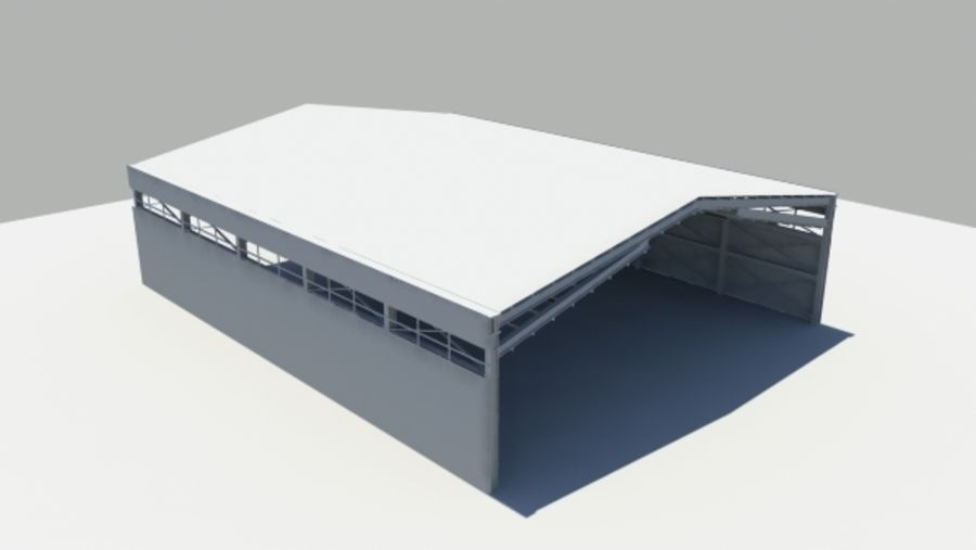 HANGAR royalty-free 3d model - Preview no. 4